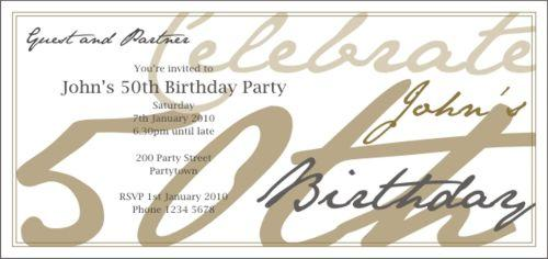 50th Birthday Invitation Gold DL large 18th Birthday Party Ideas Qld