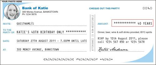 Pin birthday cheque on pinterest for Birthday cheque template