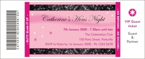 Glitz glam hen pink invitation stopboris Image collections