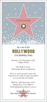 hollywood invitations templates