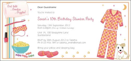 Slumber Party Peach Invitation – Sleepover Party Invitations Templates