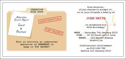 Top secret invitation filmwisefo