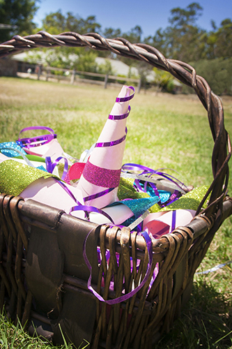 Handmade Unicorn Horns, Basket